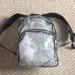 Handbags - Clear plastic backpack
